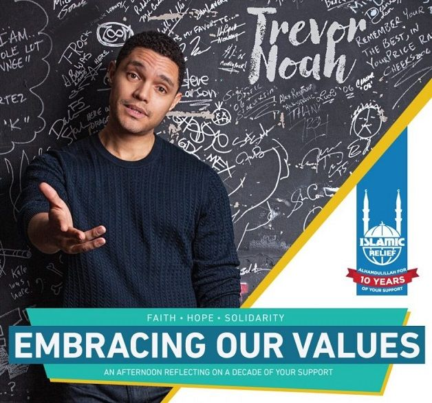 Trevor Noah is hosting an event to celebrate the incredible work of Islamic Relief Canada.   Over the last ten years, Islamic Relief Canada has helped thousands of people around the world.