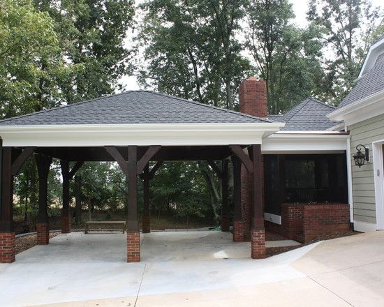 The 25 best attached carport ideas ideas on pinterest for Patio home plans with garage