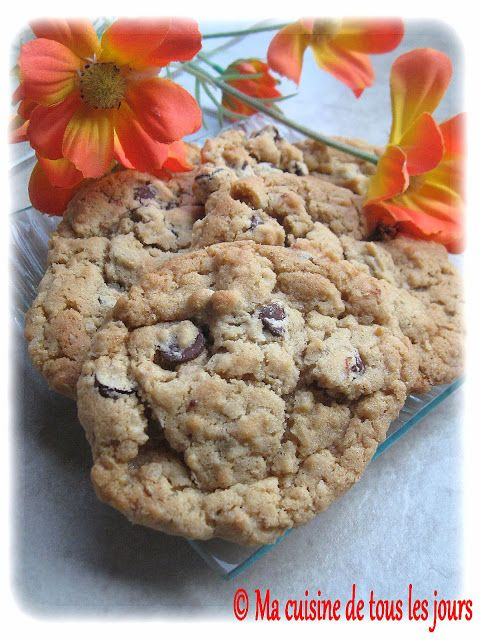 Ma cuisine de tous les jours: Biscuits à l'avoine et beurre d'arachide au chocolat