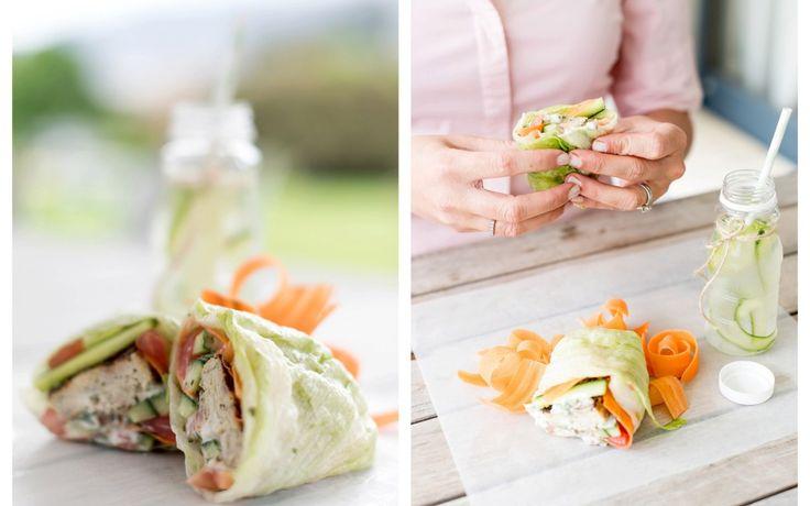 Chicken Lettuce Wrap with a Coriander Yoghurt Dressing …