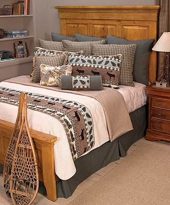 nordic bedding sets is a coverlet ensemble that blends natural textures with earth tone cabin colors