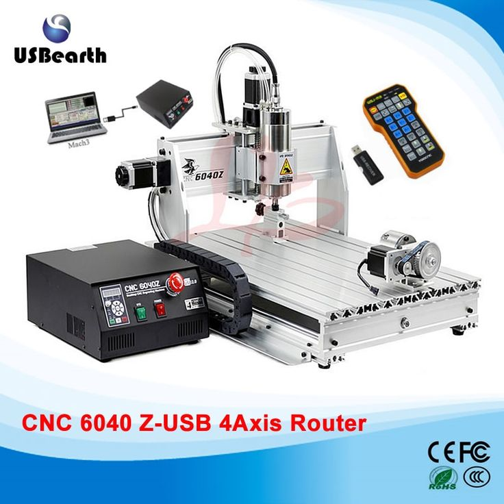 (1599.99$)  Know more  - CNC engraving machine 6040Z-USB 4axis cnc router mach3 remote control with free handwheel