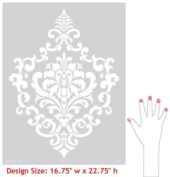 Wall Stencil | Ornamental Cartouche Stencil | Royal Design Studio. Going in our room!