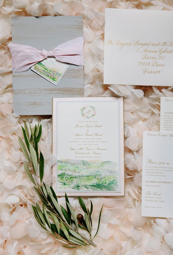custom wedding invitations nashville%0A Pippin Hill Wedding by Ashley Baber and Meg Runion