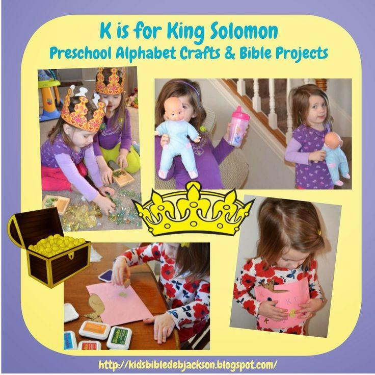 Bible Fun For Kids: Preschool Alphabet: K is for King Solomon