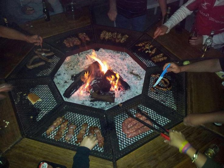 This braai grill is perfect for a 'Bring n' Braai'; with everybody getting their own area to cook the meat they brought.