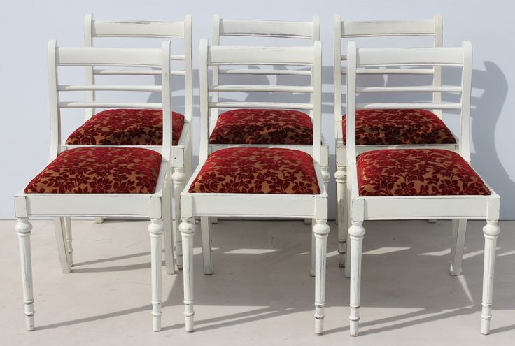 6 White Vintage Regency French Style Dining Room Chairs Condition:  Used  6 White Vintage Regency French Style Dining Room Chairs  size per chair: 440 L x 460 W x 830 H  R6999 for the six chairs  Cell 076 706 4700  Tel 021 - 558 7546  www.furnicape.co.za  0506