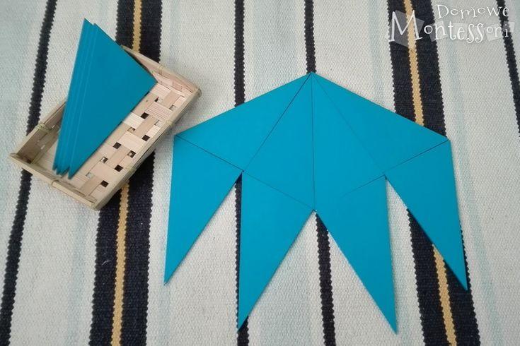 Przykładowy sposób ułożenia niebieskich trójkątów konstrukcyjnych