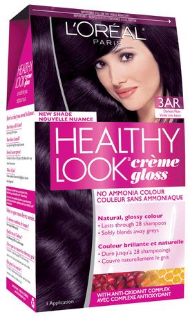 L'Oreal Healthy Look 3AR Darkest plum | I'm dying for this hair color but can't find it anywhere! :(