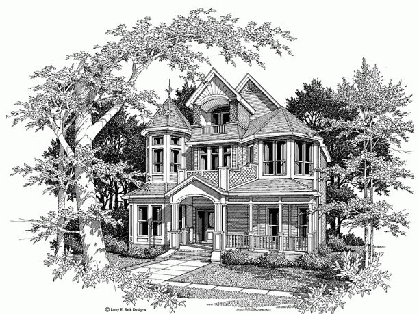 Queen anne victorian house plan for that custom house i for Custom victorian homes