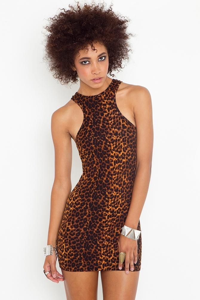 Leopard Racer Dress - Nastygal
