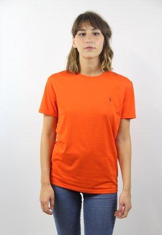 Vintage+Retro+Orange+Ralph+Lauren+T-Shirt