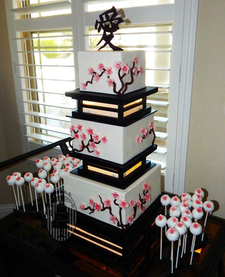 Beautiful Asian inspired cake