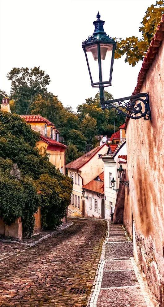"""""""Nový Svět"""" (New World) at Hradčany district in Prague, Czechia"""