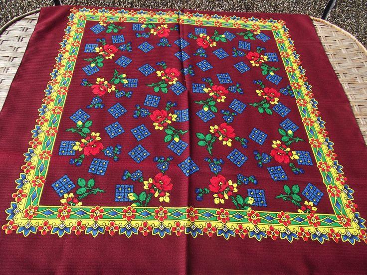 Beautiful russian scarf Floral Vintage Ukrainian Romanian Shawl old Soviet Shawl romanian style women A perfect gift for her Rare by RussianshawlMayya on Etsy