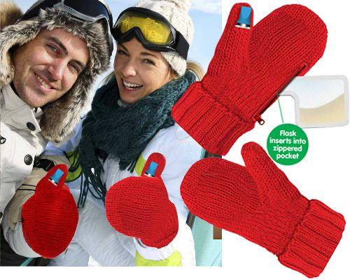 Leuk voor de winter: handschoenen met een ingebouwd drankflesje