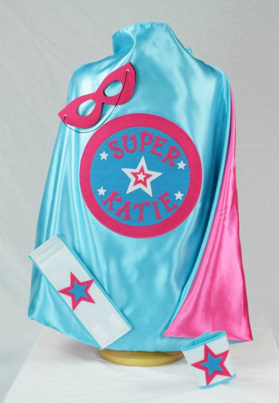 Girls SUPERHERO Cape/Youth Cape and Toddler Cape Sizes/Additional Accessories Available