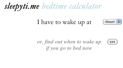 Tired of being tired? This calculator tells you when to go to bed based on your sleep cycles