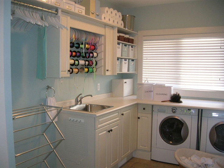 Contemporary Craft Room Furniture and Laundry Room Decor Inspiration laundry room combined with crafts room – HomeHouseDesign.Com