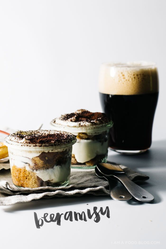 a quick and easy beeramisu recipe - like tiramisu, but with beer, for those beer lovers in your life. www.iamafoodblog.com