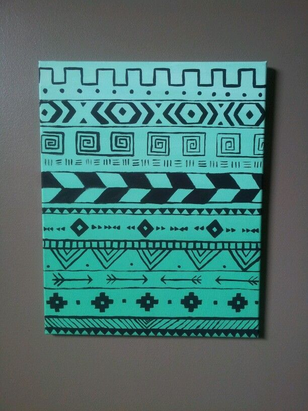 tribal print canvas painting - Google Search