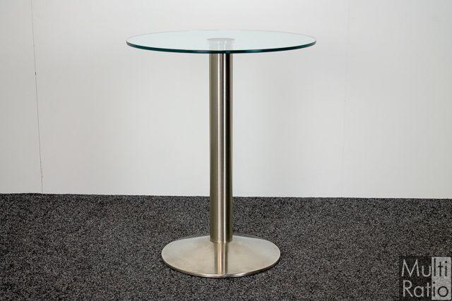 2e Hands Bijzettafel.Glazen Bijzettafel Design O 60 Cm Tweedehands Nieuw Binnen Bij