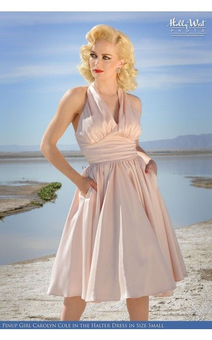 Halter Swing Dress in Blush-The timeless grace and glamour of 50s screen stars is fully embodied within the seams of the Dixiefried Halter Swing Dress.- See more at: http://www.pinupgirlclothing.com/halter-dress-blush.html#sthash.GTGIHo9C.dpuf
