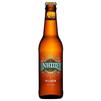 Beer 144 - Nissos Pilsner, Fairly Lightweight, thanks Tappy. Greece