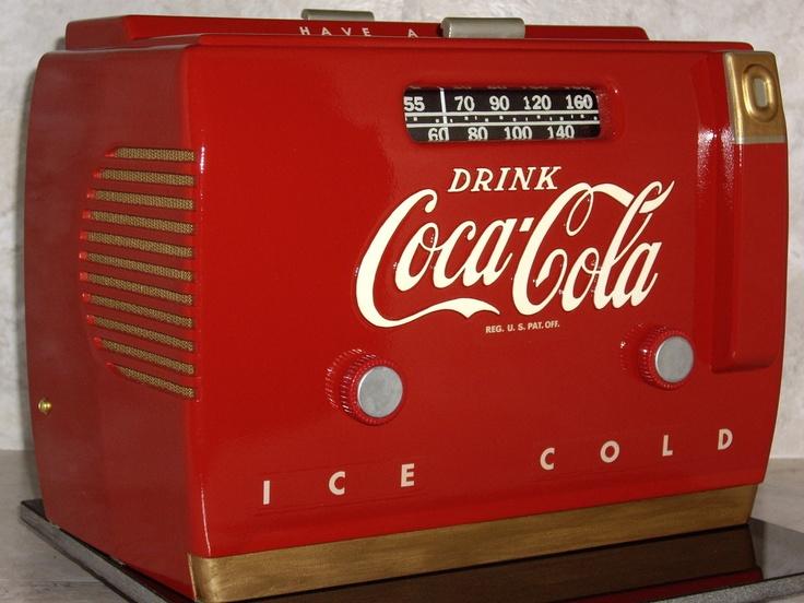 radio antigua de Coca Cola de 1948