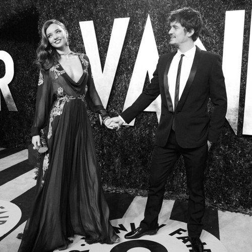 Miranda Kerr and Orlando Bloom at the Vanity Fair Oscar Party, February 2013