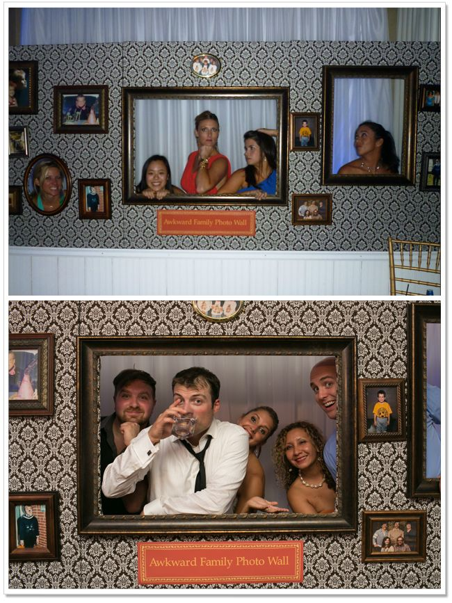 Awkward Family Photo at our wedding. An inexpensive alternative to a photo booth. How To Build on www.iguessido.com