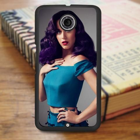 Katty Perry Purple Hair Nexus 6 Case