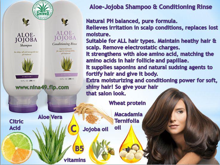 Aloe-Jojoba Shampoo & Conditioning Rinse order at www.nina49.flp.com