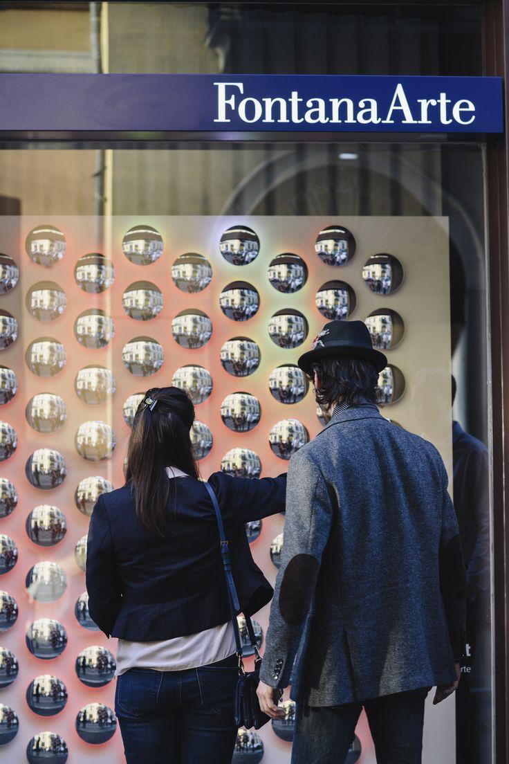 The Speed of Light An installation by Moritz Waldemeyer at Fontanaarte Flagship Store, Corso Monforte 13, Milan