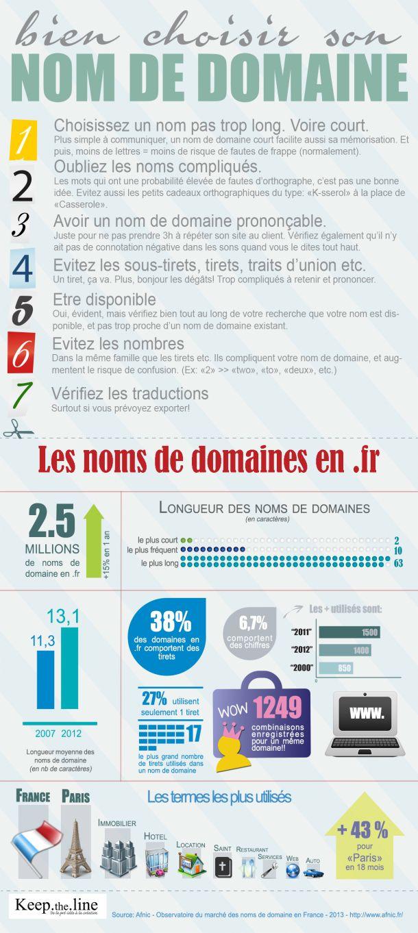 [INFOGRAPHIE] Bien choisir son nom de domaine et les statistiques des noms de domaine en .fr