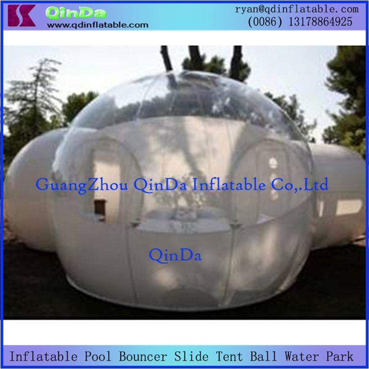 Индивидуальные ПВХ ясно, надувные газон палатка 2 номера прозрачный надувной шатер/кемпинга надувной пузырь палатка для продажи