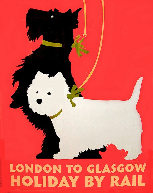 dog poster for Glasgow, Scotland
