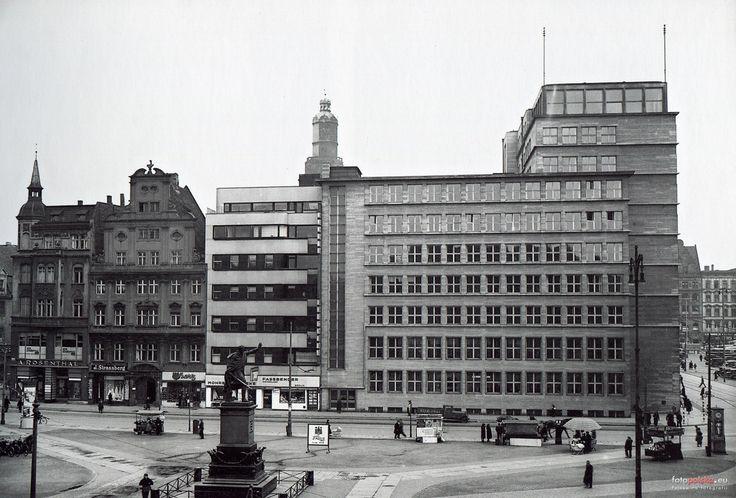 Wrocław, północna strona placu Solnego w latach 30. XX w.