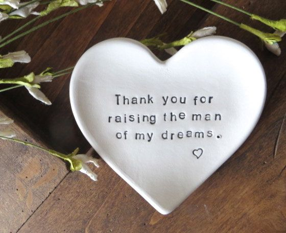 Mother of the Groom Gift,  Thank You for Raising the Man of my Dreams, IN STOCK