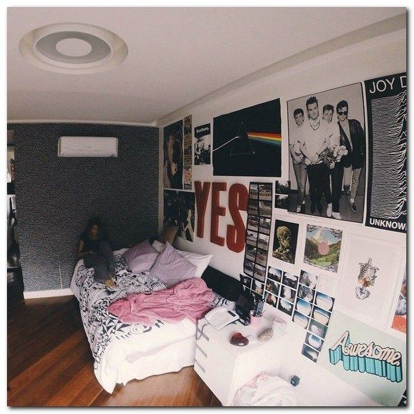 Pin By Dior Girl On Bedroom Ideas Dorm Room Decor Diy Edgy Bedroom Aesthetic Bedroom