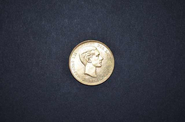 . Moneda, Espa�a, valor, 25 pesetas, oro, reinado Alfonso XII, a�o 1879, estrellas *18*79*, ensayador EMM, preciosa con su brillo original. Cualquier duda estamos a tu disposici�n. Observa todos nuestros art�culos.