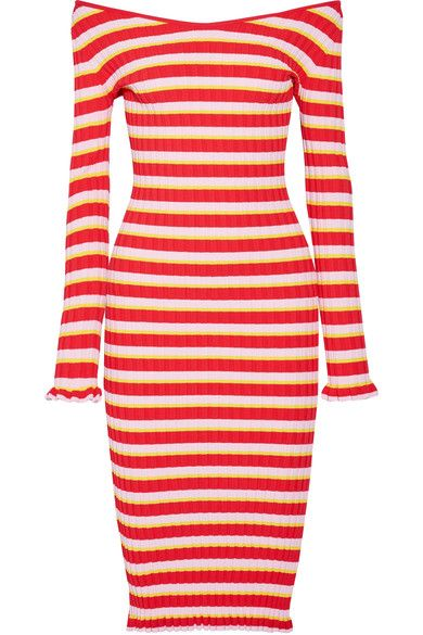 Red, pink and yellow stretch-knit Slips on  59% viscose, 41% polyester Dry clean Designer color: Fiesta Red