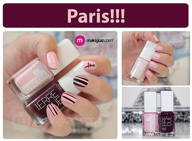 Emma Nail Artist has created for Makigiaz Com this Paris Nail Art with the new shades of Erre Due Fall Winter 2014 – 15 collection.  English Article http://makigiaz.com/blog/mani-day-paris-nail-art-erre-due-en/  Greek Article http://makigiaz.com/blog/mani-day-paris-nail-art-erre-due/