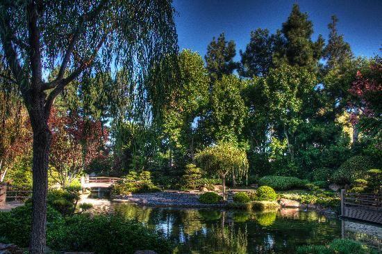 Long Beach, California. Entrance to Earl Burns Miller Japanese Garden CSULB