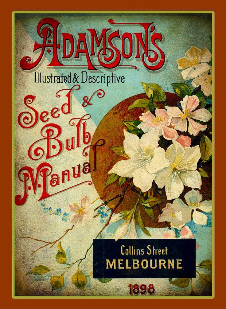 Adamson's Vintage Seed & Blulb Manual, vintage printable