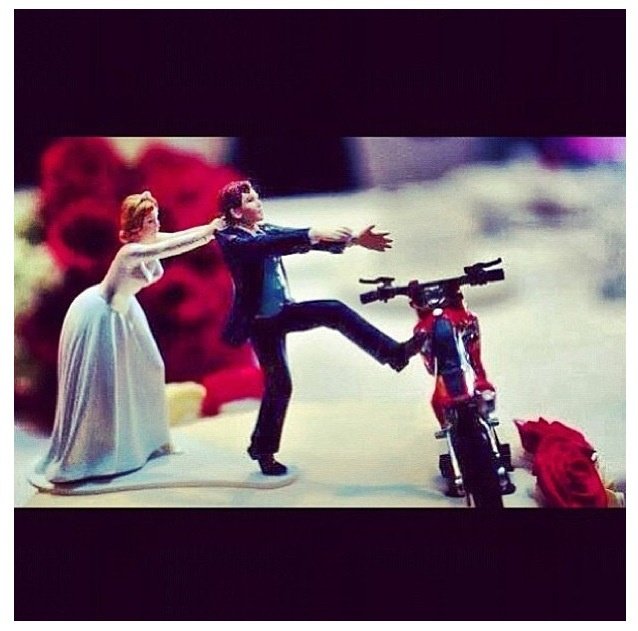 Wedding cake topper. Dirtbike love