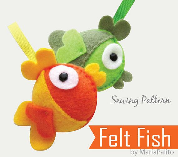 DIY Felt Fish PDF Sewing Pattern Felt Fish by Mariapalito on Etsy, $4.50