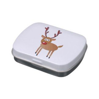 Cute Reindeer Shiny Antlers & Nose Jelly Belly Tin