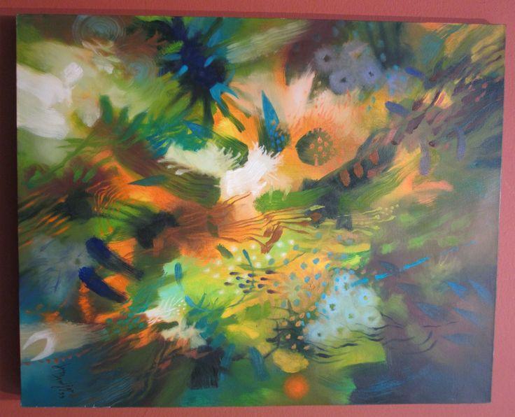 Caminos de viento Óleo sobre lienzo 82 x 63 cms 1999 Colección Museo de Arte Contemporáneo