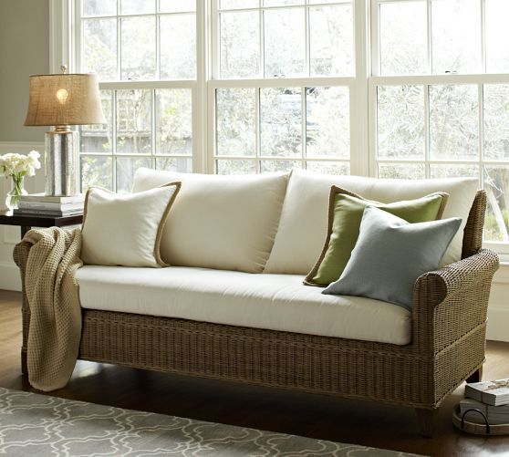jacquelyne sofa pottery barn around the house pinterest pottery wicker sofa and barn. Black Bedroom Furniture Sets. Home Design Ideas